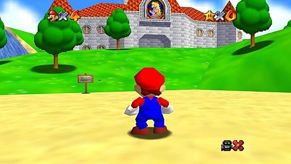 From the opening scene of Super Mario 64