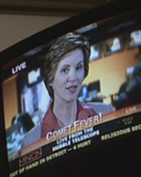 Female announcer