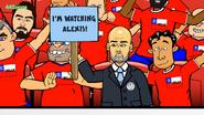 Pep Guardiola crowd Chile