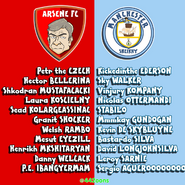 Arsenal Manchester City squad