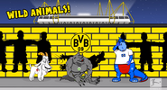 Goat Wolfsburg werewolf dinosaur Colonia Hamburger SV dinosaur Yellow Wall