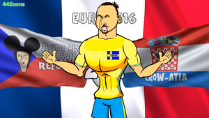 Zlatan Czech Republic Croatia flags