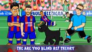 Referee dog Neymar Messi Suarez