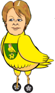 Delia Smith canary bird vehicle