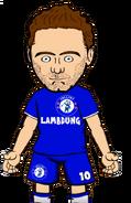 Mata in Chelsea FC kit