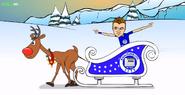 Reindeer sled Jamie Vardy