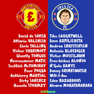 Manchester United Chelsea squad