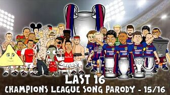 Last 16 SONG! UEFA Champions League 2015 2016 Intro Parody (Cartoon)