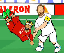 Ramos fighting with Salah