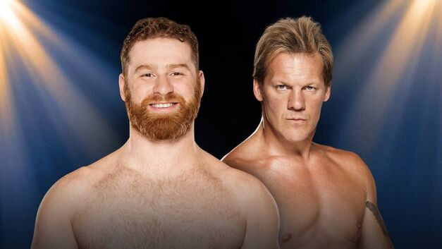 Sami Zayn and Chris Jericho face off at WWE Clash of Champions