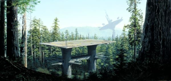 Star Wars, Ralph McQuarrie, Matte Painting, Return Of The Jedi, Industrial Light and Magic