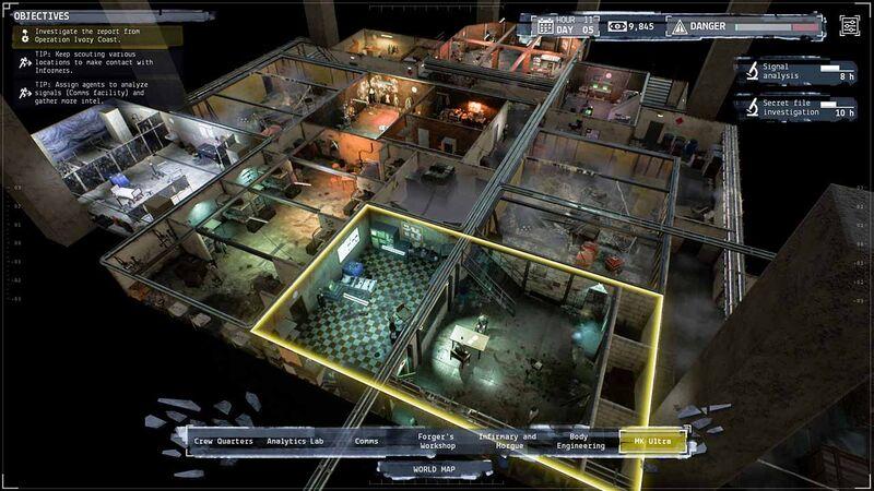 Phantom Doctrine warehouse headquarters hideout