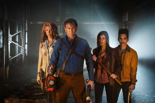 The cast of Ash vs. Evil Dead season 2.