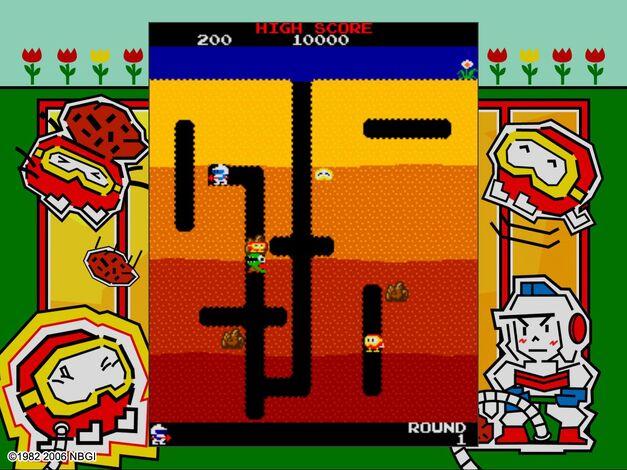 arcade game championship editions dig dug namco