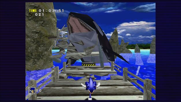A screenshot of Sonic Adventure.