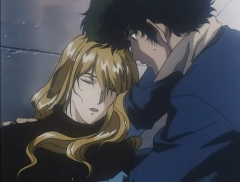 Julia and Spike from Cowboy Bebop