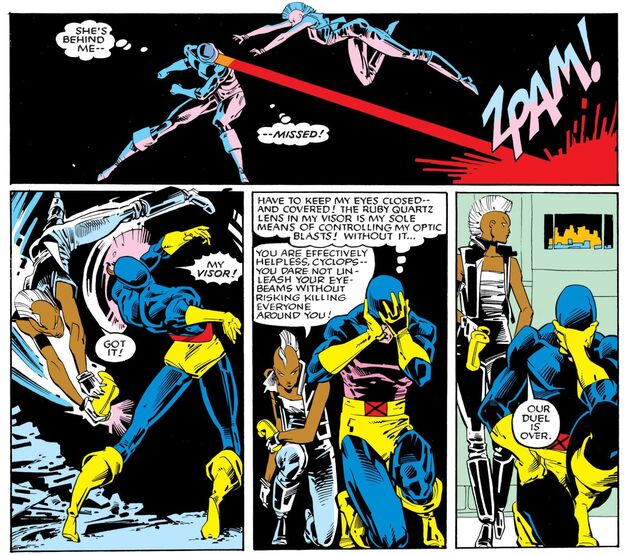 Uncanny X-Men 201 Cyclops vs Storm 003