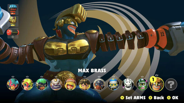 Arms update – Max Brass