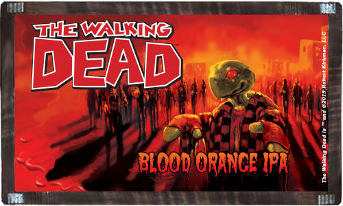 The Walking Dead craft beer label - Blood Orange IPA