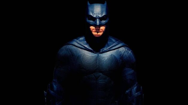 Ben Affleck's Dark Knight in the dark.