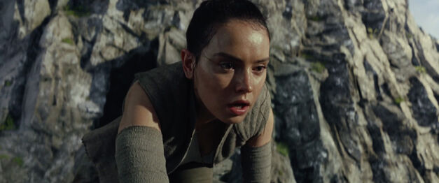 Rey in the Star Wars: The Last Jedi trailer.