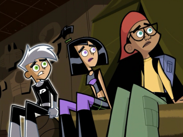 Danny Phantom trio gathering around for a story
