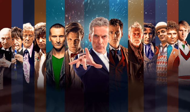 All of the incarnations of the Doctor in Doctor Who