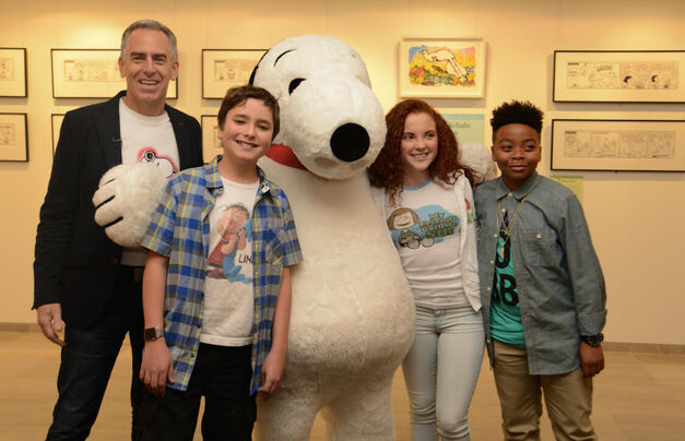 Peanuts Kids and Snoopy
