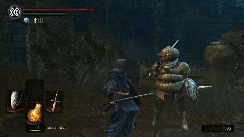 Talking to Siegmeyer at Firelink Shrine