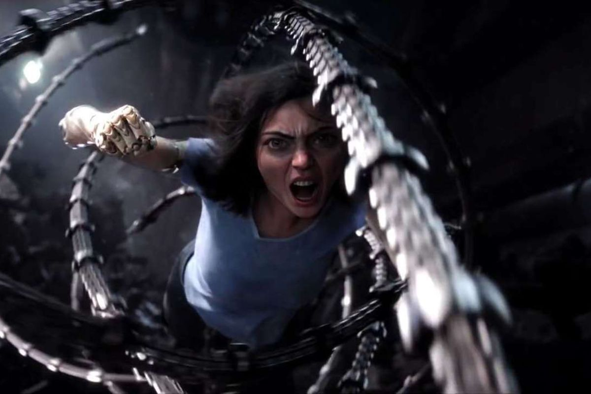 Alita in the misdst of battle