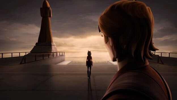 Ahsoka walks away