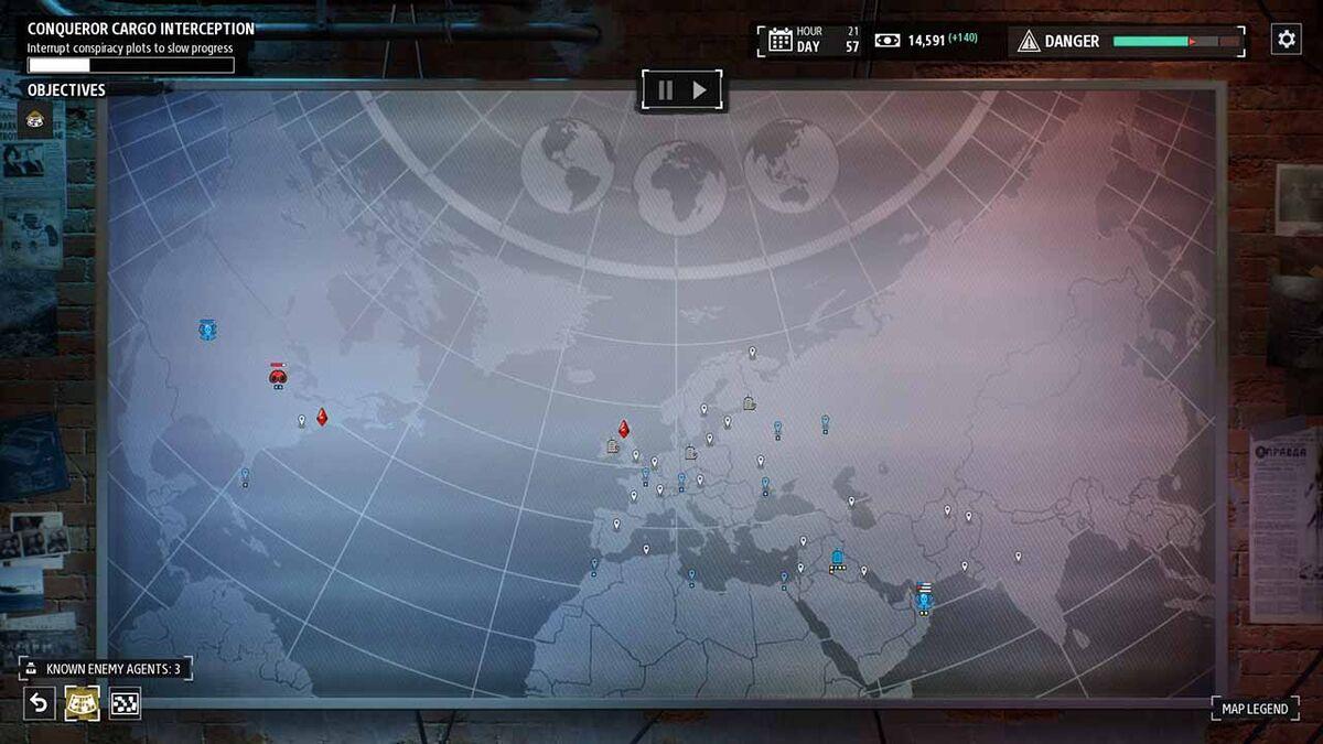 Phantom Doctrine World Map metagame