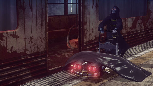 Uncle Death finds you a new corpse in Let It Die.