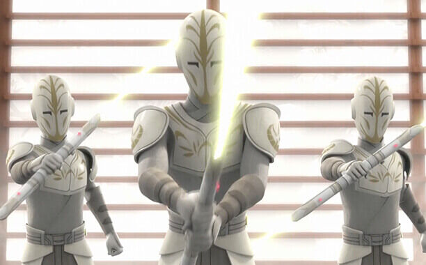 Rebels-Jedi-Guards holding light sabers