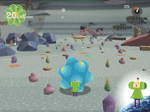 A screenshot of Katamari Damacy for PlayStation 2.