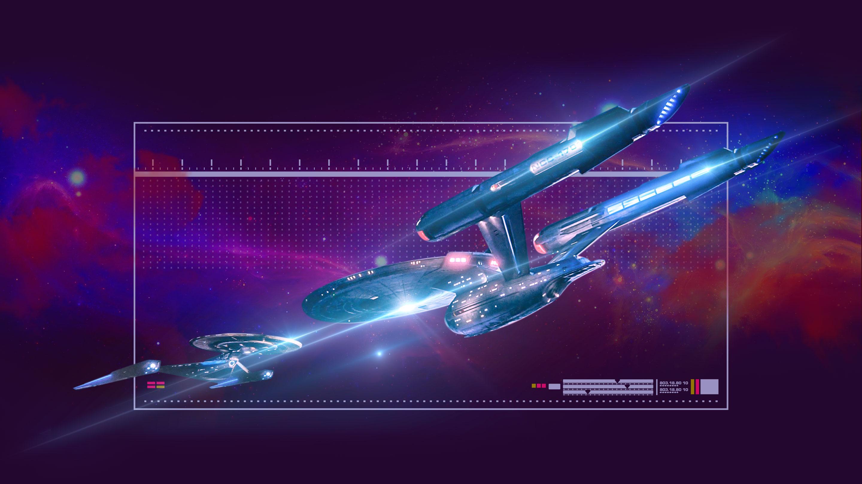 Dueling Starfleet ships
