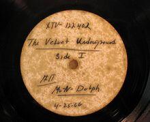 Acetate disc of The Velvet Underground