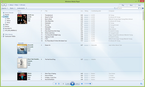 Windows Media Player 12 running on Windows 8