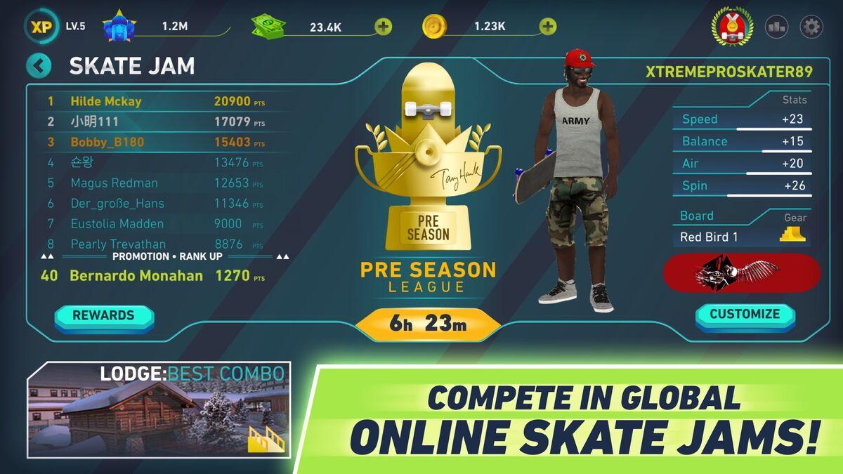 Tony Hawk's skate Jam online