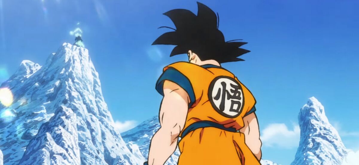 Goku on ice planet in Dragon Ball Super movie