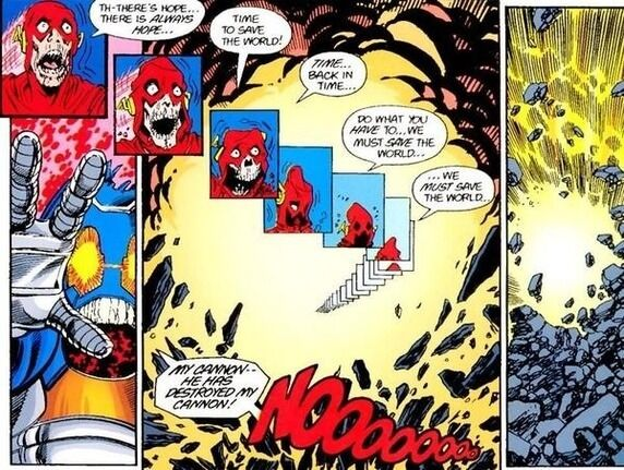 Barry Allen Flash Death Anti-Matter Cannon