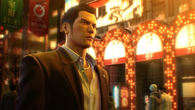 Protagonist Kazuma Kiryu in Yakuza 0.