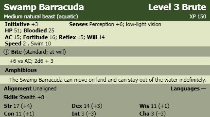 Swamp barracuda
