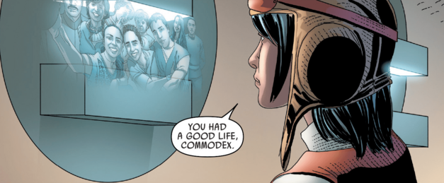 Panel from Darth Vader, Issue 10 featuring Doctor Aphra