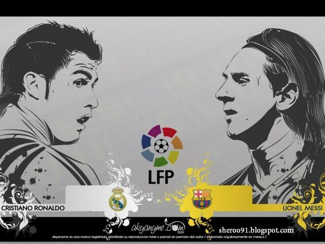 File:Messi vs ronaldo - barcelona vs real madrid - vector wallpaper-800x600.jpg