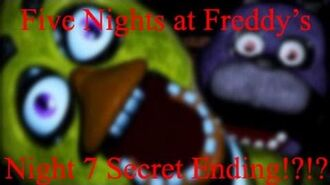 Five Nights At Freddy's-Night 7 Secret Ending?!?! (Customize Night)