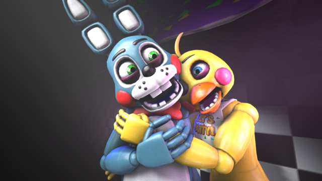 File:Sfm fnaf toy bonnie x toy chica by pft production-d8r5prk.png