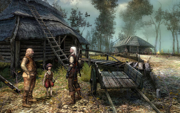 A screenshot of The Witcher for PC.