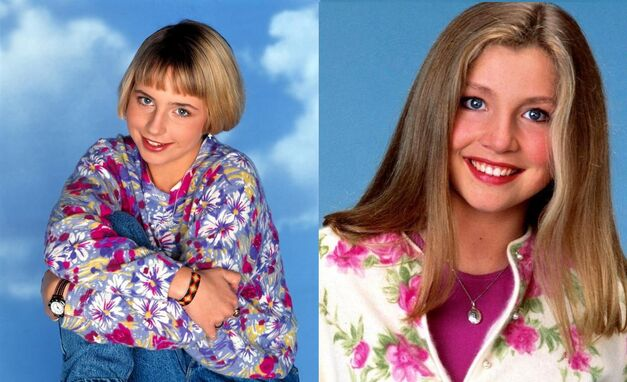 Roseanne Alicia Goranson and Sarah Chalke as Becky