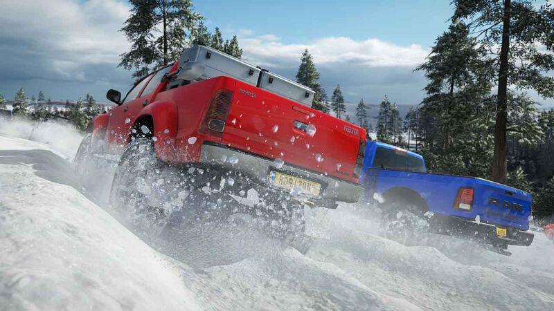 Snow race weather Forza Horizon 4
